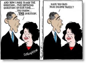 ... Sonia Sotomayor's Supreme Court Judge Nomination Political Cartoons