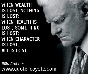 Character is wealth