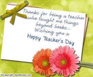 Celebrating Teacher's day Ideas
