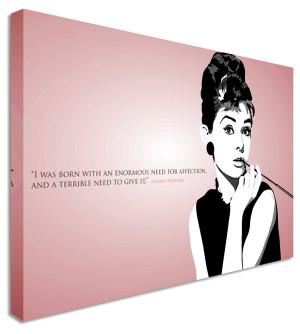 Details about Audrey Hepburn Quote Pink - Canvas Wall Art Pictures For ...