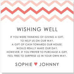 Lovely Wishing Well wording More