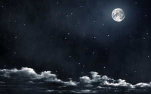 Moon stars clouds Wallpapers Pictures Photos Images