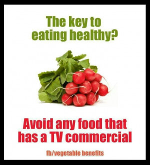 Avoid TV commercial foods
