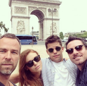 Bourne, Holland Roden, Max Carver and Ian Bohen in Paris #TeenWolf ...