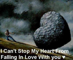 can't stop my heart from falling in love with you.