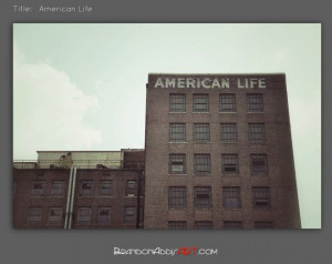 American Life Quote Industrial Wall Decor Urban by BrandonAddisArt, $ ...