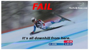 FAIL - it's all downhill from here - Winter Olympic Vancouver 2010.