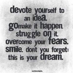 Devote yourself...