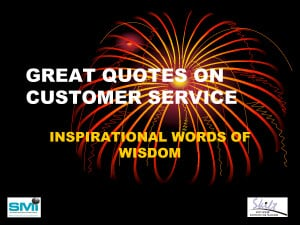 GREAT QUOTES ON CUSTOMER SERVICE