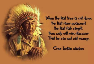 ... to their environment and fellow man.~ Sun Bear of the Chippewa Tribe