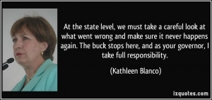 At the state level, we must take a careful look at what went wrong and ...
