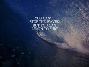 ... it sets a deep blue curl of the ocean behind a Jon Kabat-Zinn quote