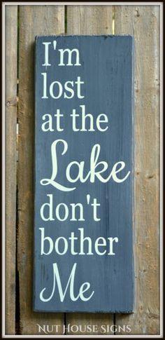 Lake Sign Lake House Decor Chalkboard Housewarming Gift Rustic Wood ...
