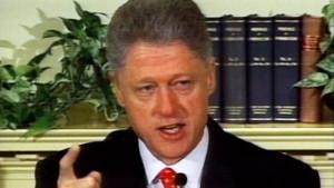 ... Clinton's public denial of