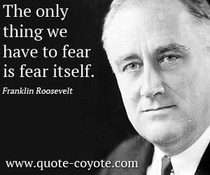 quotes - The only thing we have to fear is fear itself.