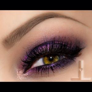 purple smokey eye day night