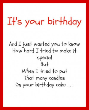 funny birthday poems for mom
