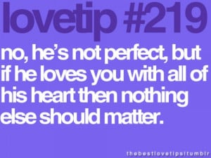 He's perfect for me.