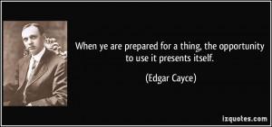 Casey Quotes Edgar Cayce...