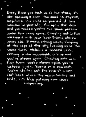 lost at sea #comic #stars #Bryan Lee O'Malley #stars quotes #quotes