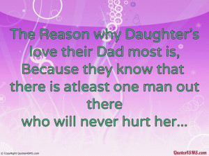 The Reason why Daughter's love their Dad most is...