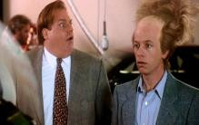 ... Brian Dennehy in Tommy Boy. (1995) · Still of Chris Farley and David