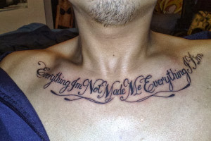 Chest Quotes Tattoos