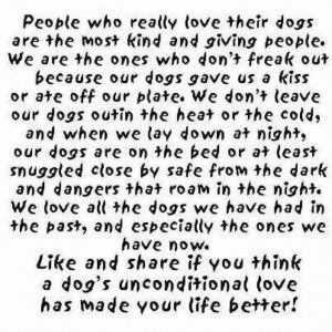 Unconditional dog love!