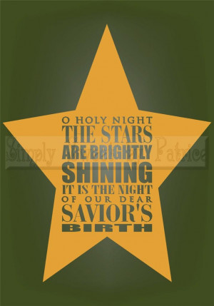 HOLY-NIGHT-CHRISTMAS-Vinyl-Wall-Saying-Lettering-Quote-Decoration ...