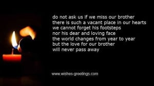 heartfelt poems for the deceased brother-in-law