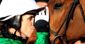Tony McCoy Binocular kiss Champion Hurdle