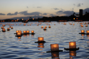 water #floating candles #candles