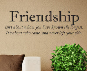 Wall-Quote-Decal-Sticker-Vinyl-Lettering-Friendship-Never-Left-Your ...