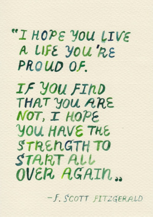 fitzgerald quote life has a funny way of showing you these quotes when ...