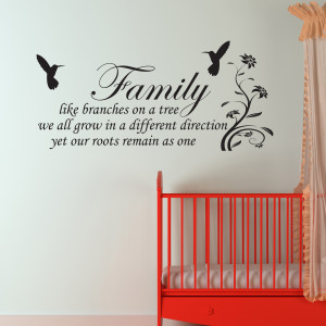 Details about Family Inspirational Wall Art - Wall Quote Sticker - Art ...