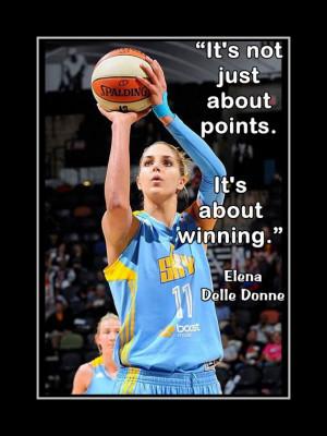 Elena Delle Donne Chicago Sky Delaware Basketball Poster Photo Quote ...