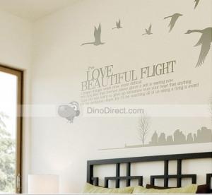 Beautiful Flight Wild Goose Quote Home Room Decor Decorative Wall Art ...
