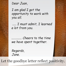 Funny Goodbye Quotes For Coworkers Goodbye letter for coworkers