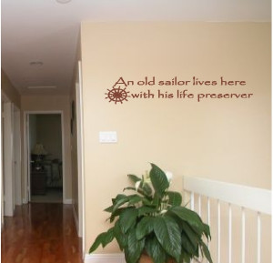 an old sailor lives here beach quotes wall words lettering decals