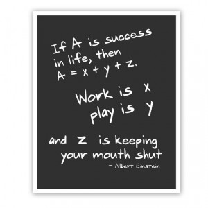Albert Einstein Quote Math Art Print Wall by JaneAndCompanyDesign, $20 ...