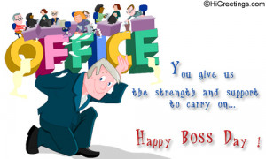 Send Boss Day ecards and free online greeting cards to friends and ...