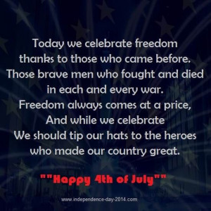 Happy 4th of July 2014 Poems, Poetry with Pictures, Images