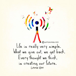 This is one of my favorite Louise Hay Quotes, so I designed a poster ...