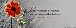 Helen Keller Quote Facebook Timeline Cover