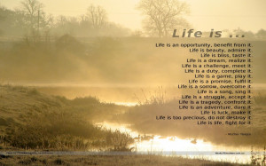 Life And Death Picture Hd Inspirational Sayings About Life Hd Quotes ...