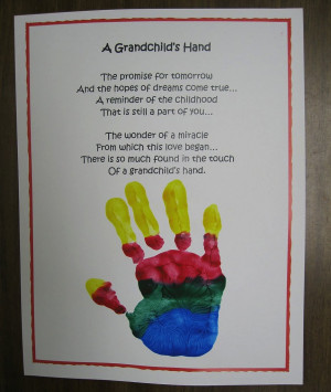 ... grandchild really makes the gift of your child's handprint personal