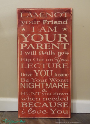 as a parent you play the role of disciplinarian and you need to be ...