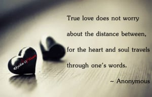 True love does not worry
