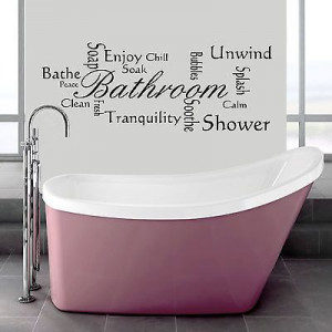 Bathroom Wall Quote Modern - Wall Art - Montage Vinyl Decal Mural ...