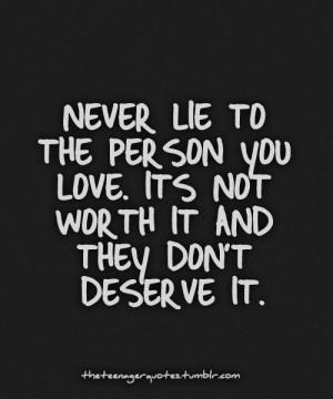 Dont lie